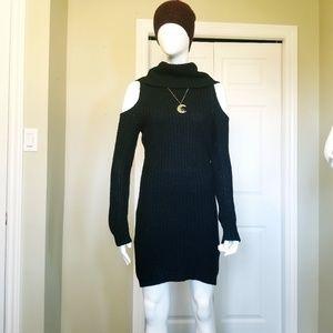 Revamped - black knit dress
